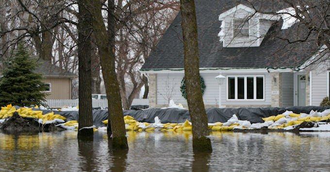 flood outside home